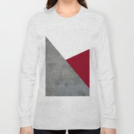 Concrete Burgundy Red White Long Sleeve T-shirt