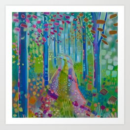 perfect day in the woods Art Print