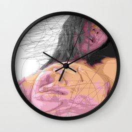 art by pencil lead Wall Clock