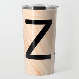 Scrabble Letter Z - Scrabble Art and Apparel Travel Mug
