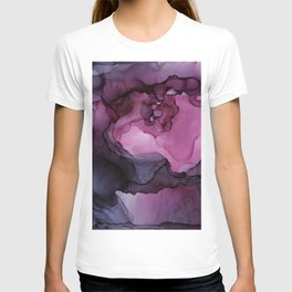 Abstract Ink Painting Ethereal Flowing Watercolor Nebula T-shirt