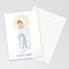 Virgin of Lourdes Stationery Cards