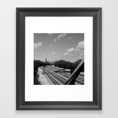 Chicago from the South Framed Art Print