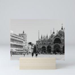Piazza San Marco Venice Art Print in Black and White || Venice, Italy Mini Art Print