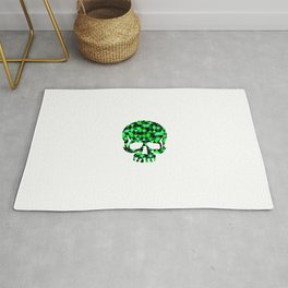 Triangle Camouflage Skull (WITHE) Rug