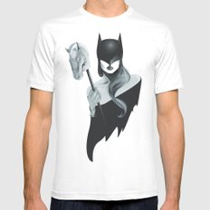 Gotham Masquerade White Mens Fitted Tee MEDIUM