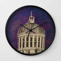 montreal Wall Clocks featuring Montreal by Shazia Ahmad