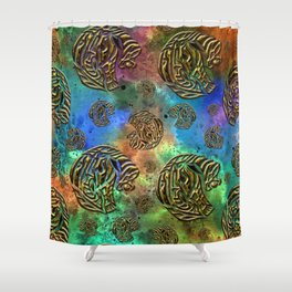 Mosaic of Elephants Shower Curtain