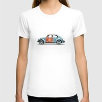 vw T-shirts featuring number 11 - VW beetle by Vin Zzep