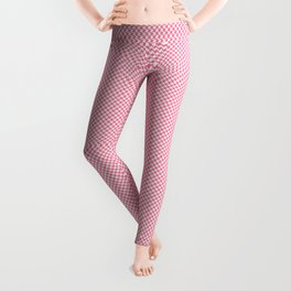 Houndstooth White & Pink small Leggings