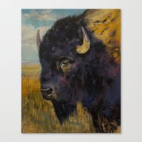 bison Canvas Prints featuring Bison by Michael Creese