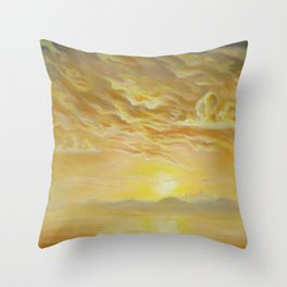 Bronze Mirror Throw Pillow