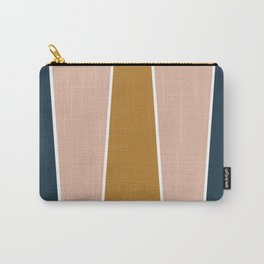 Retro Autumn Color Block Carry-All Pouch