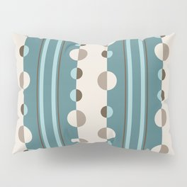 Circles and Stripes in Teal and Cream Pillow Sham