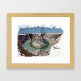 Horse shoe Bend National Park  Framed Art Print