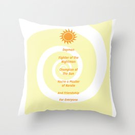 Dayman Song Throw Pillow