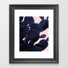 Purple Cactus On Pink Framed Art Print