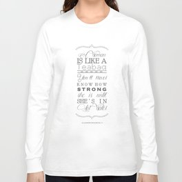 Eleanor Roosevelt Motivational Quote A Woman Is Like A Teabag Long Sleeve T-shirt