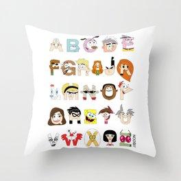 Child of the 00s Alphabet Throw Pillow