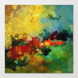 Colorful Landscape Abstract Art Print Canvas Print