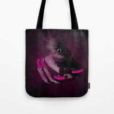 Bang Bang Gun Smoke  Pink Grunge Nails  Tote Bag