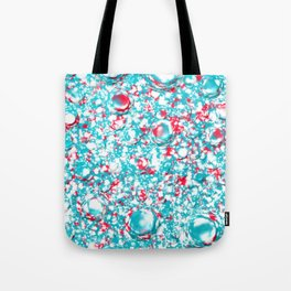 small blue red pattern on white underground Tote Bag