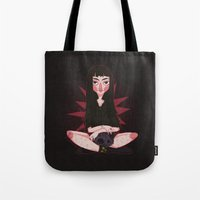 witchcraft Tote Bags featuring ☽ Witchcraft ☾ by ♡ SUSHICORE ♡