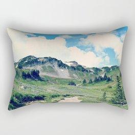 Up Mount Rainier Rectangular Pillow
