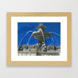 Fontaines de la Concorde Framed Art Print