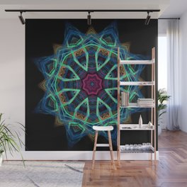 Blue Vortex Wall Mural