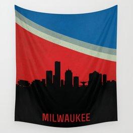 Milwaukee Skyline Wall Tapestry