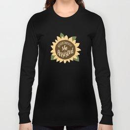 nevertheless she persisted sunflower Long Sleeve T-shirt