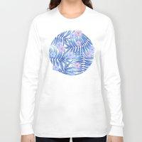 hawaiian Long Sleeve T-shirts featuring Hawaiian Pattern by Marta Olga Klara