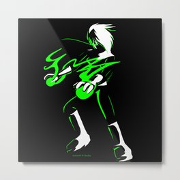 Danny Phantom 3 colour Metal Print