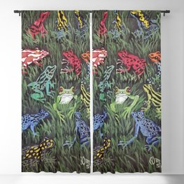 Tropical Frogs  Blackout Curtain