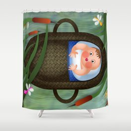 Baby Moses on the River Nile Shower Curtain