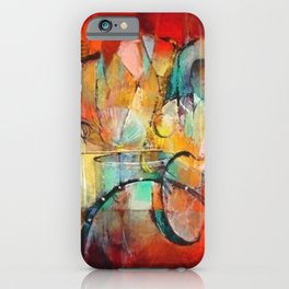 African American Masterpiece 'Harlem, Jazz Musicians' by J. Robinson iPhone Case