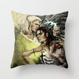 Dragon Age - Templar and Apostate Mage - Cure Throw Pillow