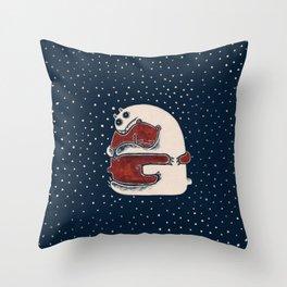 Cuddly Winter Bears Throw Pillow