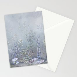 Misty Blue Garden Stationery Cards