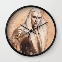 thranduil Wall Clocks featuring thranduil oropherion by LindaMarieAnson