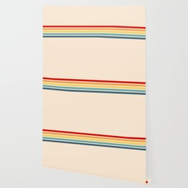 Takaakira - Classic Rainbow Retro Stripes Wallpaper