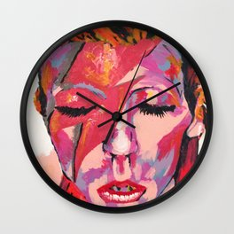 "David ""Zigi Stardust"" Bowie Wall Clock"