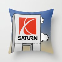 saturn Throw Pillows featuring Saturn by Josh LaFayette
