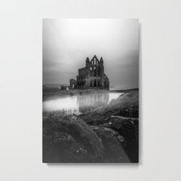 Gothic in Grey Metal Print