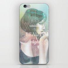 Walks in Beauty iPhone & iPod Skin