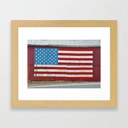 Patriotic barn Framed Art Print