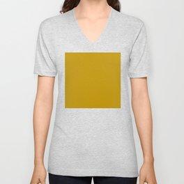 Dijon Yellow, Solid Yellow Unisex V-Neck
