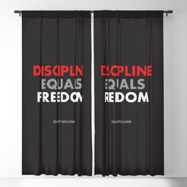 """Discipline Equals Freedom"" Jocko Willink Blackout Curtain"