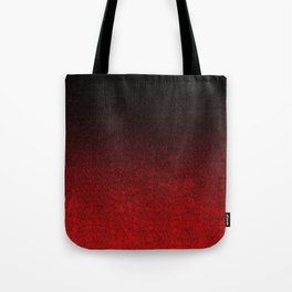 Red & Black Glitter Gradient Tote Bag